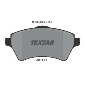 取寄 2361501 2361501 ブレーキパッド Textar 1セット(4枚入)