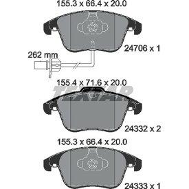 取寄 2470601 2470601 ブレーキパッド Textar 1セット(4枚入)