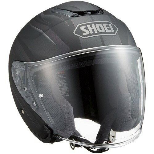 【送料無料】SHOEI ジェットヘルメット J-CRUISE PASSE TC-5 BLACK/SILVER L 1個【返品キャンセル不可】