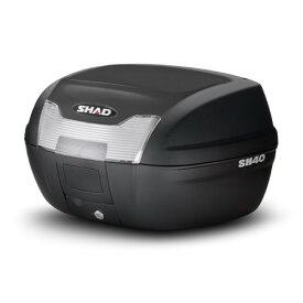 【7/30は0のつく日でポイント最大23倍!】SHAD(シャッド) バイク トップケース・リアボックス SH40 トップケース 無塗装ブラック D0B40100 汎用