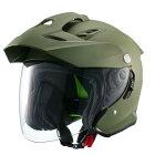 【10/25限定★ポイント最大23倍】マルシン バイク ジェットヘルメット ジェットヘルメット MSJ1 TE-1 XL マットカーキ 01001626