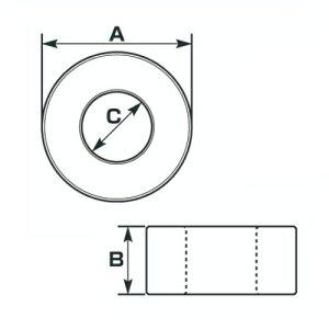 【エントリーでP10倍】スペーサー・カラー0900-093-02012アルミスペーサーカラーブラックφ8用13×10×8.2キタコ
