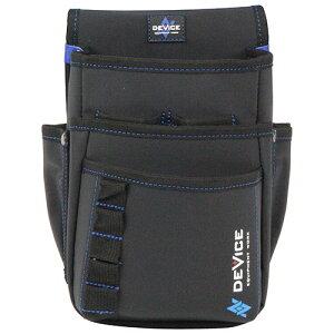 取寄 DVC-KZ13 DEVICE 腰袋 3段 大容量ポケット DVC-KZ13 SK11 ブラック 1個