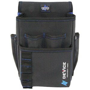 取寄 DVC-KZ12 DEVICE 腰袋 2段 大容量ポケット DVC-KZ12 SK11 ブラック 1個