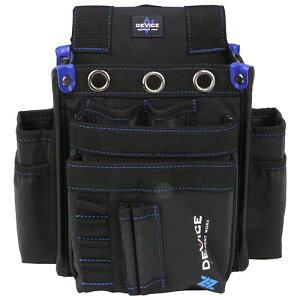 取寄 DVC-KZ15 DEVICE 腰袋 3段 サイドポケット付き DVC-KZ15 SK11 ブラック 1個