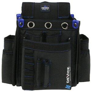 取寄 DVC-KZ14 DEVICE 腰袋 2段 サイドポケット付き DVC-KZ14 SK11 ブラック 1個