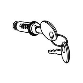 【エントリーでポイント最大26倍!(10月25日限定)】201722R SHADトップケース用キーシリンダー 汎用 SHAD(シャッド) 1個