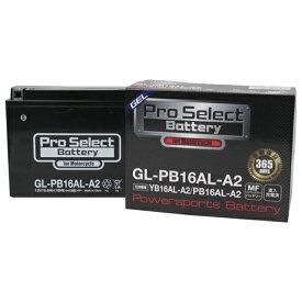 【ポイント最大38.5倍!お買い物マラソン 5/9 20時〜5/16 2時迄】Pro Select Battery (プロセレクトバッテリー) GL-PB16AL-A2 【YB16AL-A2互換】 液入充電済MFジェルバッテリー 安心信頼業界最長2年保証付き 長持ち バイクバッテリー すぐ使えるメンテナンスフリー