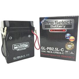 Pro Select Battery (プロセレクトバッテリー) GL-PB2.5L-C 【YB2.5L-C YB2.5L-C-2 FB2.5L-C互換】 液入充電済MFジェルバッテリー 2年保証付き 長持ち バイクバッテリー