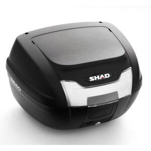 バイク リアボックス 40L ちょっと大きめサイズ SH40 無塗装ブラック SHAD(シャッド) 通勤 通学 防水性を考慮した設計 GIVI、KAPPAを検討中の方にもおすすめ