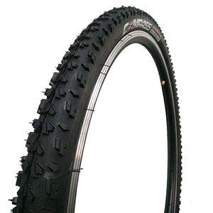 【エントリーでポイント最大26倍!(10月25日限定)】自転車タイヤ 26インチ ブロックパターンW2001 26×1.95 HE COMPASS(コンパス) ブラック 1本