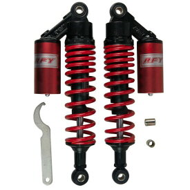 リアサスペンション タンク 320mm ブラックレッド EnergyPrice(エナジープライス) スプリング レッド、タンク レッド 1セット(2本入)