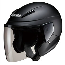 【6/15限定!5のつく日でポイント最大10倍】ジェットタイプ 00005209 セミジェットヘルメット M-520 フリー マットブラック マルシン工業(Marushin) マットブラック、シールド:ライトスモーク(標準装備) 1個