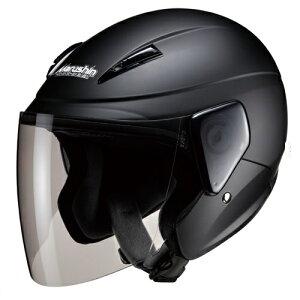 ジェットタイプ 00005209 セミジェットヘルメット M-520 フリー マットブラック マルシン工業(Marushin) マットブラック、シールド:ライトスモーク(標準装備) 1個
