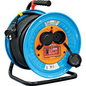 取寄 DNW-EK330-20A 電工ドラム 防雨防塵型三相200V アース過負荷漏電遮断器付 30m 日動工業 1台