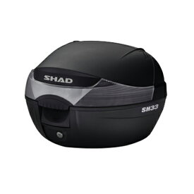 バイク リアボックス 33L 通勤 通学 SH33 無塗装ブラック SHAD(シャッド)