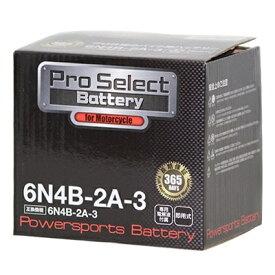 【ポイント最大38.5倍!お買い物マラソン 5/9 20時〜5/16 2時迄】Pro Select Battery (プロセレクトバッテリー) 6N4B-2A-3 【6N4B-2A-3互換】 液別タイプ(開放型) 安心信頼1年保証付き 長持ち バイクバッテリー