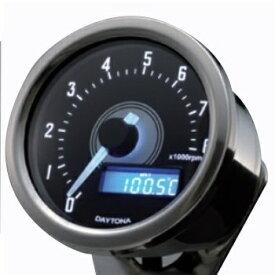 取寄 92252 VELONA 電気式タコメーター 8000rpm バフボディ ホワイトLED デイトナ ボディ:バフ、LED:ホワイト 1個