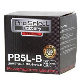 【ポイント最大38.5倍!お買い物マラソン 5/9 20時〜5/16 2時迄】Pro Select Battery (プロセレクトバッテリー) PB5L-B 【YB5L-B 12N5-3B FB5L-B互換】 液別タイプ(開放型) 安心信頼1年保証付き 長持ち バイクバッテリー