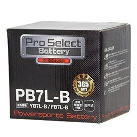 【6/22 20時〜6/26 2時迄 ポイント最大28倍!お買い物マラソン】Pro Select Battery (プロセレクトバッテリー) PB7L-B 【YB7L-B 12N7-3B互換】 液別タイプ(開放型) 安心信頼1年保証付き 長持ち バイクバッテリー