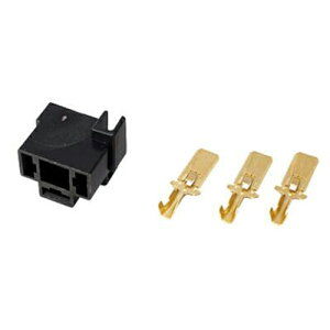 【エントリーでポイント最大26倍!(11月1日限定)】H-4コネクター/オス H4コネクター 端子セット ProTOOLs(プロツールス) カプラー:黒、端子:銀 1セット