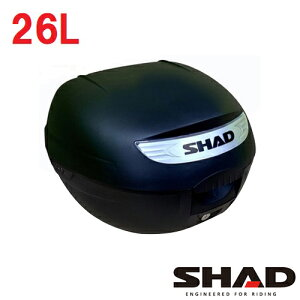 【6/15限定!5のつく日でポイント最大10倍】SH26 リアボックス(トップケース) 無塗装ブラック SHAD(シャッド)