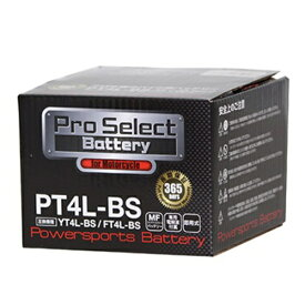 Pro Select Battery (プロセレクトバッテリー) PT4L-BS 【YT4L-BS FT4L-BS GT4L-BS互換】 液別MFバッテリー 安心信頼1年保証付き 長持ち バイクバッテリー すぐ使えるメンテナンスフリー