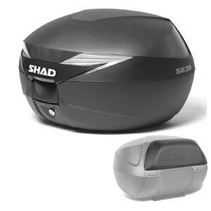 【セット売り】SH39トップケース無塗装ブラックバックレストセット