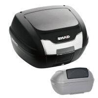 【セット売り】SH40トップケース無塗装ブラックバックレストセット