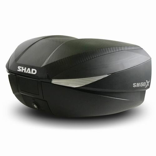 【スペインブランド】SHAD リアボックス 58L カーボン SH58X(D0B58106) 1個 3段階の拡張機能付き大容量トップケース! シャッド トップケース 【あす楽対応】