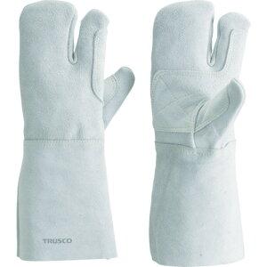 【エントリーでポイント最大26倍!(10月20日限定)】取寄 3本指 KEVY-T3 ケブラー糸使用溶接手袋 3本指 裏綿付 TRUSCO(トラスコ) 3本指 1双