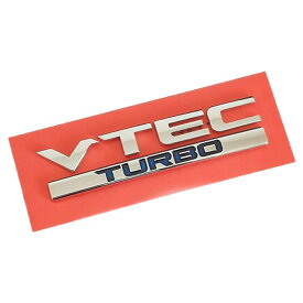 VTEC TURBO エンブレム 縦 2.5cm x 横 10.5cm ホンダ 純正 輸出仕様 HONDA ホンダ HONDA GENUINE PARTS クリックポスト送付