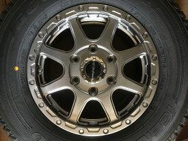 ハイエースバン用 アルミ+タイヤ グッドイヤーカーゴプロ195/80R15 107/105L お買得4本セット