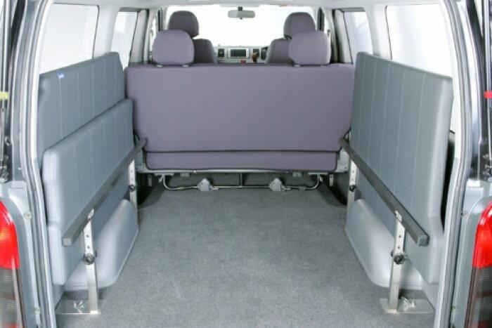 ベットキット【ユーアイ】ハイエース200系標準ボディ用マルチウェイベッドキット[ベッドマット仕様]レザー[グレード]DX(リアヒーター付き)[カラー]グレー[年式]III型後期・IV型[高さ]Hiタイプ