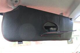 【ボディライン】NV350キャラバン ワイドボディ サンバイザーカバー ステッチカラー ブラックステッチ