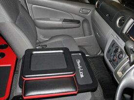 【ボディライン】NV350キャラバン DX専用センターBOX 車中泊 ベッドキットステッチカラー レッド