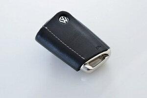フォルクスワーゲン ゴルフ 7 VW GOLF VII | グッズ キーホルダー【エムプラス】GOLF 7 Leather Key Cover ブラック×シルバーステッチ