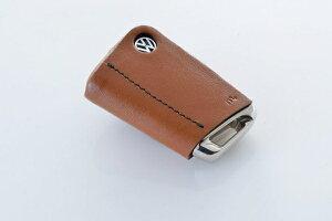 フォルクスワーゲン ゴルフ 7 VW GOLF VII   グッズ キーホルダー【エムプラス】GOLF 7 Leather Key Cover キャメル×ブラックステッチ