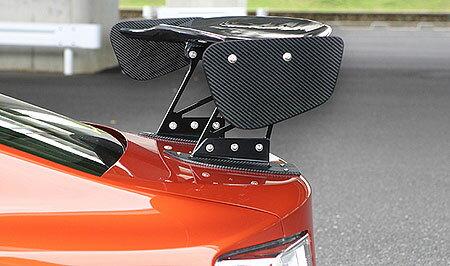 86 - ハチロク - | GT-WING【ランド エアロテック】86 DIRect 3D GT-WING センターマウント付き 本体&翼端板カーボン ステー45mm