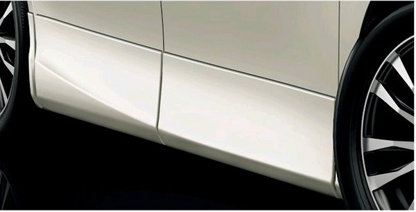 70/75 VOXY | サイドステップ【トヨタモデリスタ】VOXY 70系 後期 MODELLISTA for V/X/L Edition/X/TRANS-X サイドスカート メーカー塗装品 ホワイトパールクリスタルシャイン