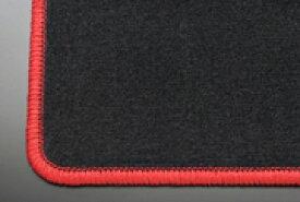 H32/37 ミニカトッポ | フロアマット【テイクオフ】H32/37 ミニカトッポ フロアマット 運転席側 ヒールパッド:有 スタンダードブラック オーバーロックカラー:レッド