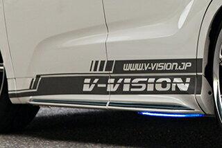 汎用   ステッカー【ブイビジョン】オリジナルサイドデカールタイプ2 左右セット ラメバージョン【軽自動車サイズ】 シルバー