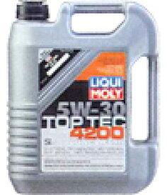 LIQUI MOLY(リキモリ) エンジンオイル5W-30 / 5W30 トップテック 4200水素化分解合成油 20L缶ドイツ NO.1ブランド送料80サイズ