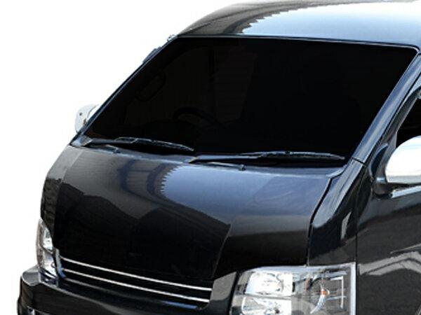 ハイエース ワイド TRH211 TRH216 TRH221 TRH226 KDH211 KDH221 ボンネット 1型 2型 3型 4型 全グレード H16/8〜 カーボン 未塗装 社外品 HIACE トヨタ TOYOTA