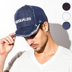 1PIU1UGUALE3 RELAX ウノピゥウノウグァーレトレ USZ-704 EMBROIDERY MESH CAP ロゴ刺繍 メッシュキャップ ブラック / ホワイト / インディゴ BLACK WHITE INDIGO 綿 帽子 サイズフリー アパレル 送料無料