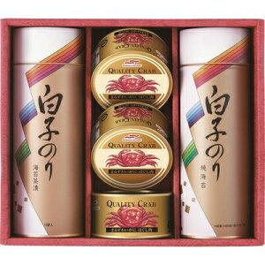 【取寄品】 白子のり 海苔とカニ缶詰合せ 【 食品 セット 乾物 詰め合わせ 】