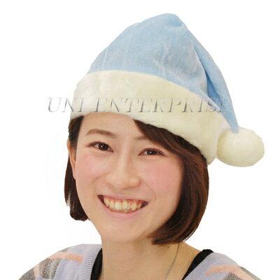 Patymo クリスマスサンタ帽子 ライトブルー 【 かぶりもの 大人 サンタ コスプレ ハット 大人用 小物 仮装 ぼうし 変装グッズ 】