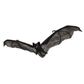 【あす楽12時まで】 58cmブラックバット (蝙蝠/コウモリ) 【 動物 アニマル オブジェ ホラー リアル 置物 雑貨 モンスターアニマル 怖い 不気味 生き物 いたずらグッズ どっきり ハロウィン 】