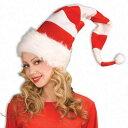 【あす楽12時まで】 赤白ストライプハット 【 クリスマス コスプレ おもしろ 仮装 かぶりもの 面白 帽子 小物 変装グッズ 爆笑 キャップ 笑える 】