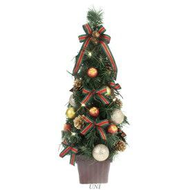 クリスマスツリー LEDデコレーションツリー パイン&ゴールド 45cm 【 クリスマス 飾り テーブル 装飾 手軽 小型 卓上ツリー 小さい ミニツリー 】